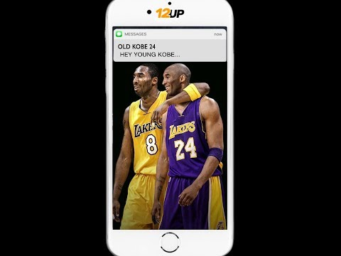 ecdd123e1090 VIDEO  Old Kobe Texts Young Kobe Advice Ahead of Jersey Retirement Ceremony